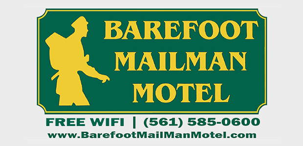 001 Barefoot Mailman Motel Sign